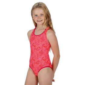 Regatta Tanvi Maillot de bain 1 pièce Enfant, fiery coral seahorse